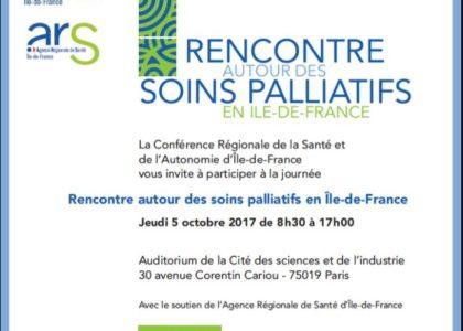 Journée CRSA sur les soins palliatifs : «Rencontre autour des soins palliatifs en Île-de-France»